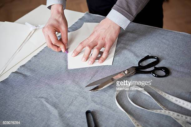 Young fashion designer at work