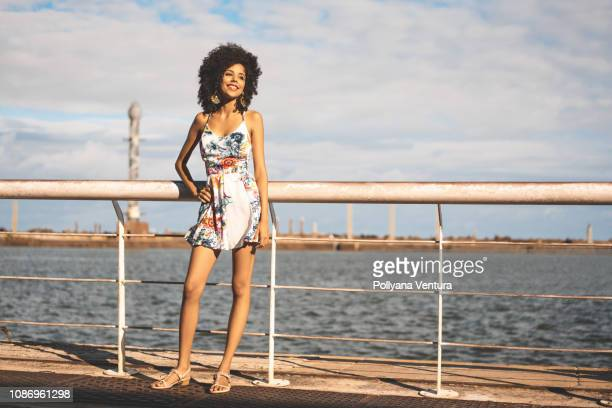 Young fashion model in Recife