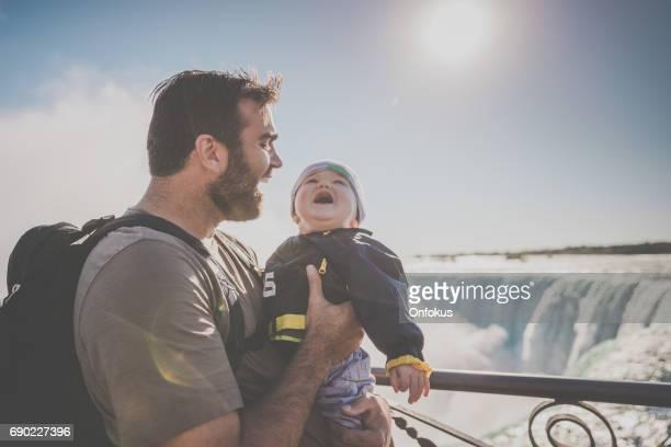 Young Father and Baby Boy at Niagara Falls