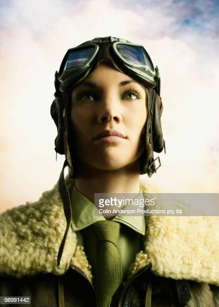 Young female aviator