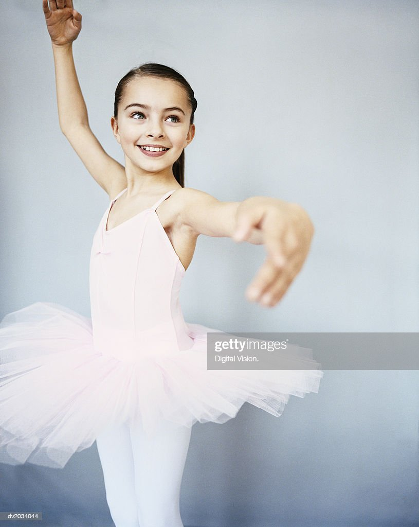 Young, Female Ballet Dancer Doing a Pirouette : Stock Photo