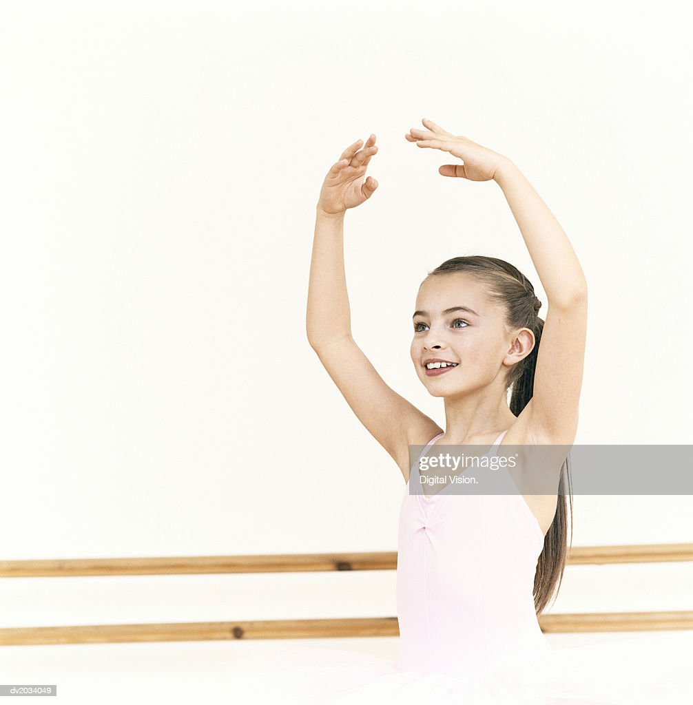 Young, Female Ballet Dancer Practicing in a Dance Studio : Stock Photo