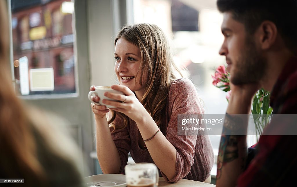 Young female in cafe : Stock Photo