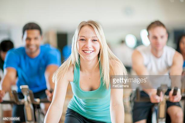 Young Female in Exercise Class
