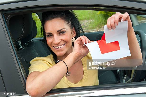 Young Female Passing Driving Test