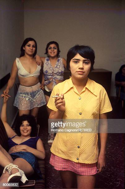Young female prostitutes in Paraguay circa 1980
