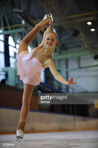 Young female skating
