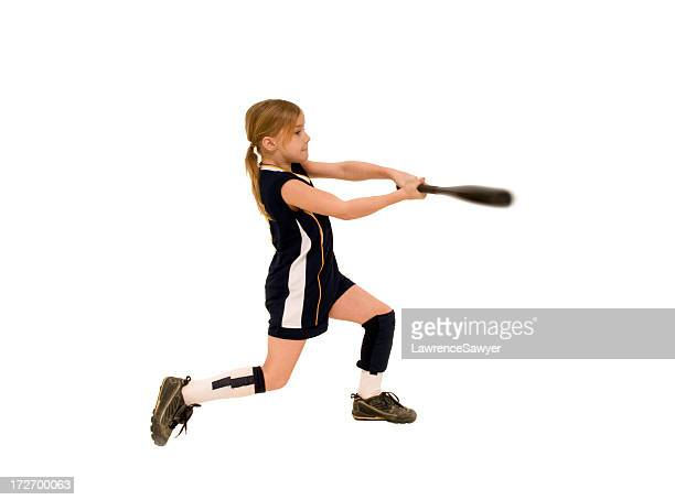 young female softball player - batting sports activity stock pictures, royalty-free photos & images