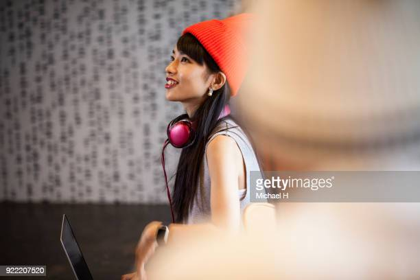 young female start up business woman  in office - generation z stock photos and pictures