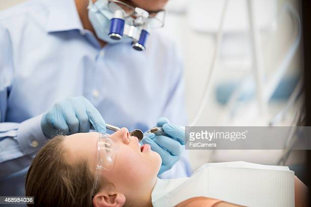 Young Female Teenager at the Dentist