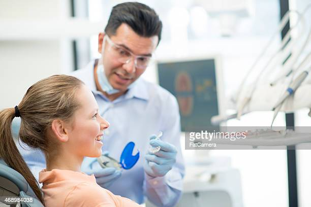 Young Female Teenager getting Invisalign