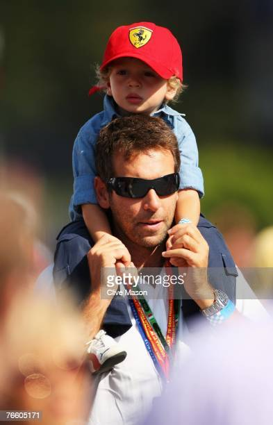 Young Ferrari fan is seen in the paddock before the Italian Formula One Grand Prix at the Autodromo Nazionale di Monza on September 9 2007 in Monza...