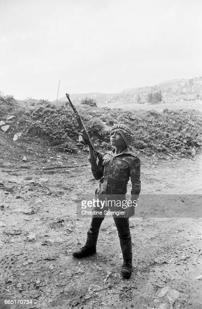 Young fighter of the Popular Front for the Liberation of Palestine in Nabatiye