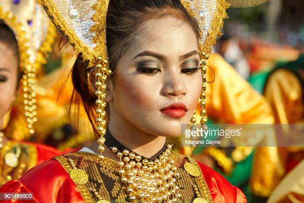 Young Filipina Wearing Festival Costume