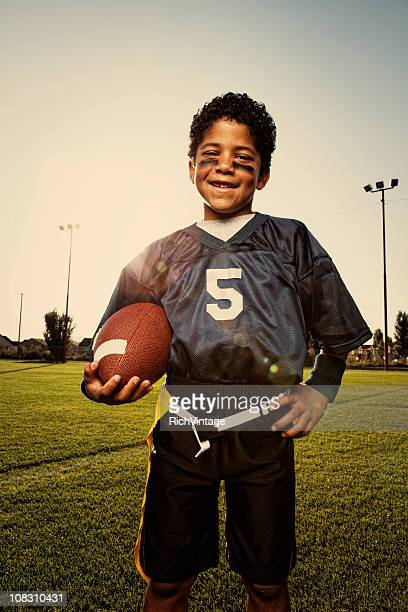 Young Flag Football Player