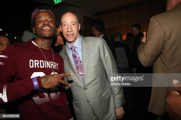 DC Young Fly and Ted Reid attend the Annual PreGrammy Reception hosted by Ted Reid at STK on February 9 2017 in Los Angeles California