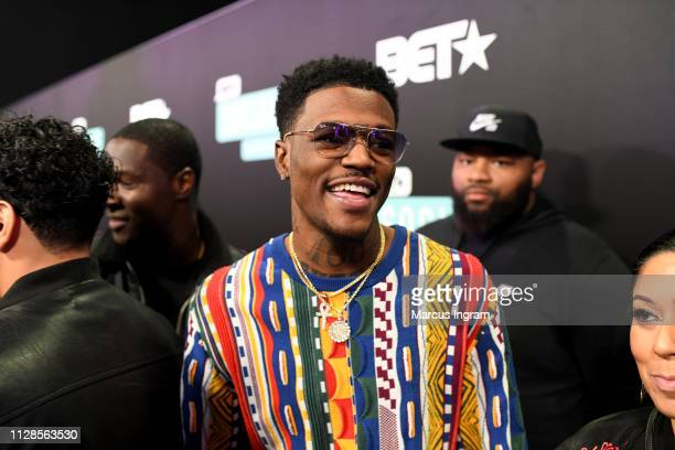 C Young Fly attends the 2019 BET Social Awards at Tyler Perry Studio on March 3 2019 in Atlanta Georgia