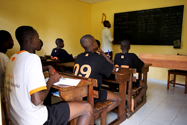 Young footballers at ASEC Mimosas famous academy