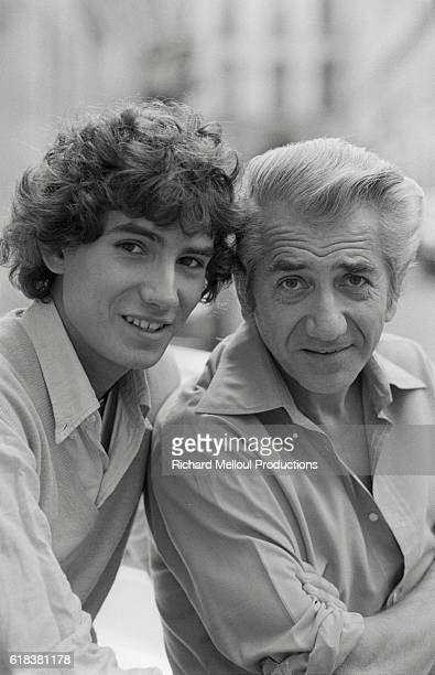 Young French actor Manuel Gelin poses with his father actor Daniel Gelin