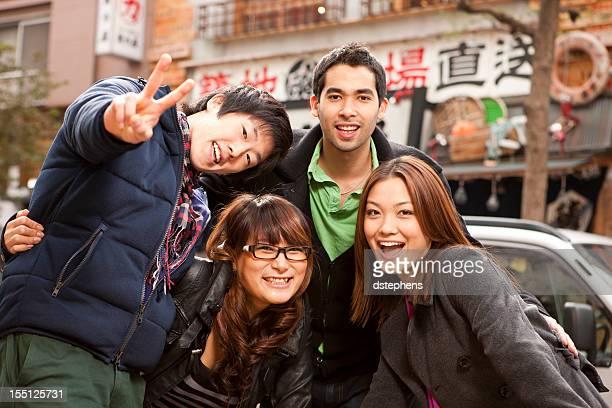 若い友人を日本で
