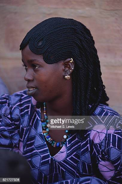 Young Fula Woman with Braided Hair