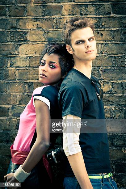 Junge trendige Paar