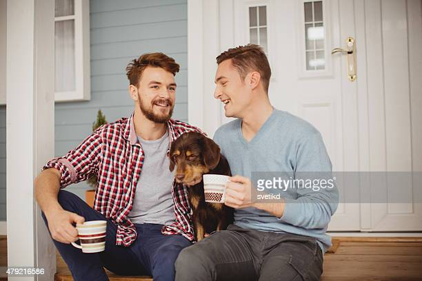 young gay couple. - gay couple stock pictures, royalty-free photos & images