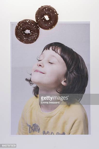 Young gel dreams of donuts