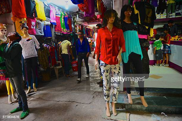 Young generation specially girls opted for western trend of wearing jeans residing in a small town of the city on April 2 2014 in Meerut India
