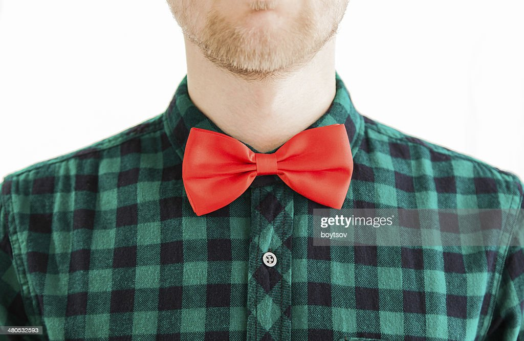 Young gentleman and his red bowtie : Stock Photo