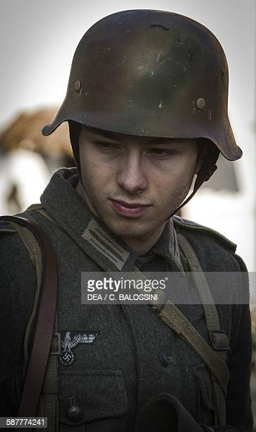 Young German Wehrmacht soldier Second World War 20th century Historical reenactment