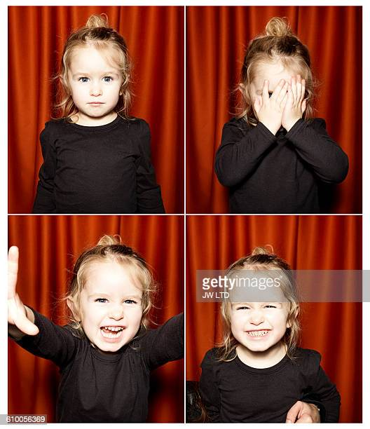 young girl 2-3 years, in photo booth