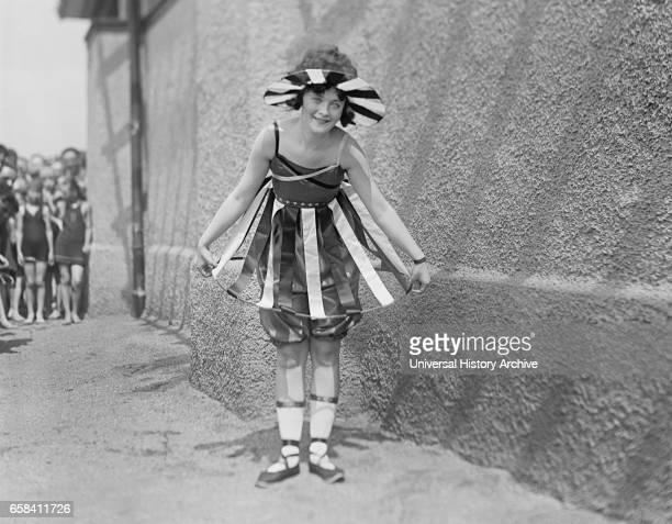 Young Girl at Bathing Beach Parade, Portrait, Washington DC, USA, July 1919.