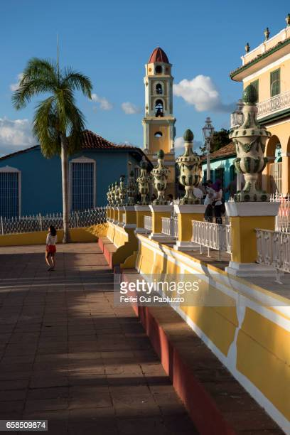 A young girl at Plaza Mayor of old town Trinidad, Cuba
