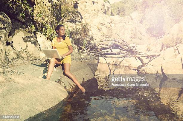 Young girl at the river