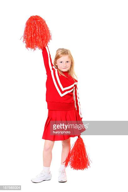 young girl cheerleader - cheerleader up skirt stock photos and pictures
