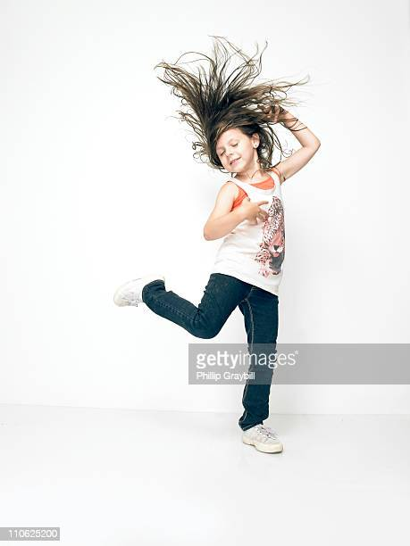 young girl dancing - standing on one leg stock pictures, royalty-free photos & images