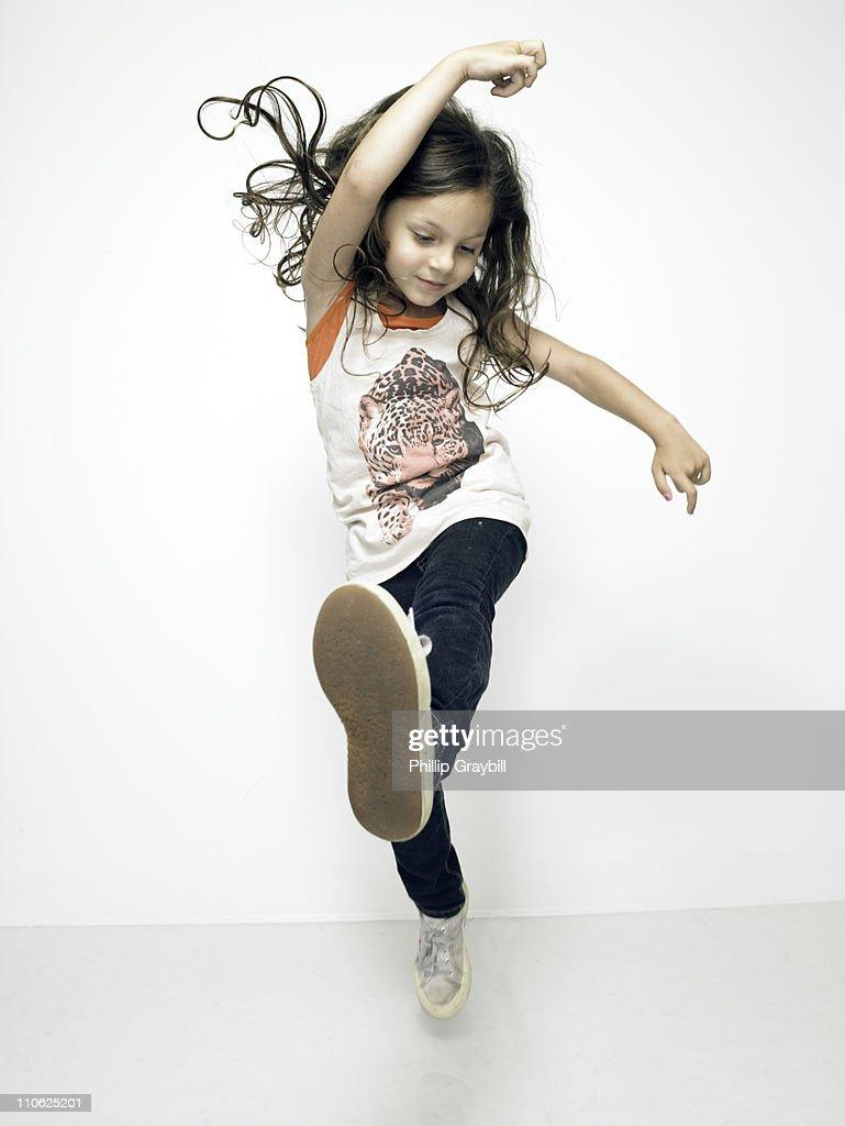 Young girl dancing : Stock Photo