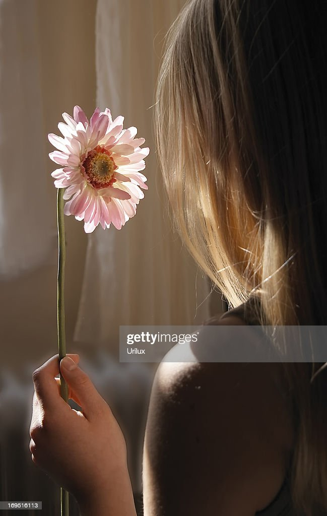 Young girl dreaming : Stock Photo