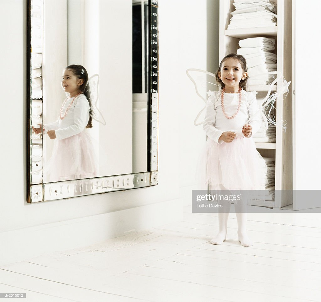 Young Girl Dressed as a Fairy : Stock Photo