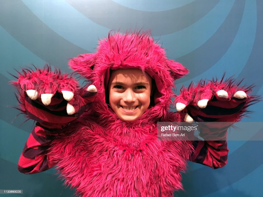 Young girl dressed up as a cat : Stock Photo
