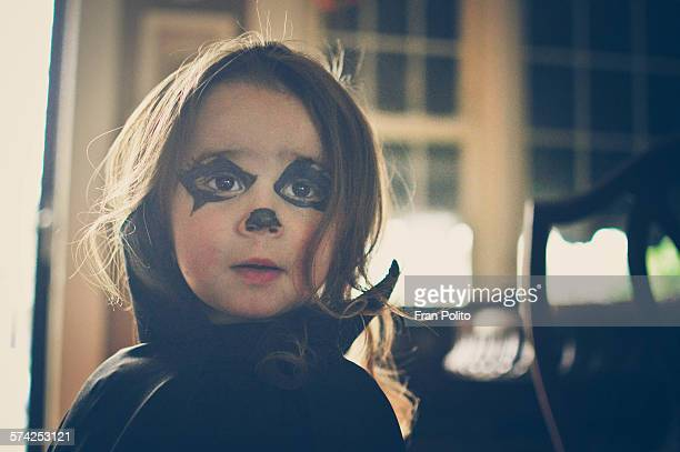 young girl dressed up in a vampire costume. - young goth girls stock pictures, royalty-free photos & images