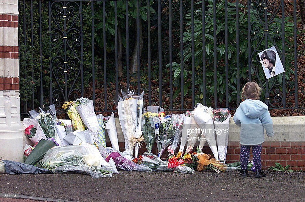 Tributes Following the Death of ex-Beatle George Harrison : News Photo