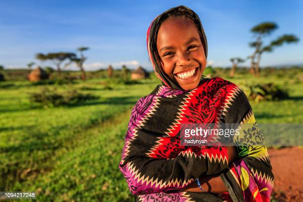 young girl from borana tribe, southern ethiopia, africa - ethiopia stock pictures, royalty-free photos & images