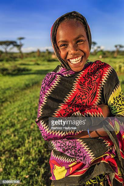 Young girl from Borana tribe, southern Ethiopia, Africa