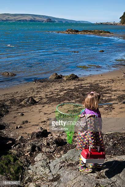Young girl going fishing