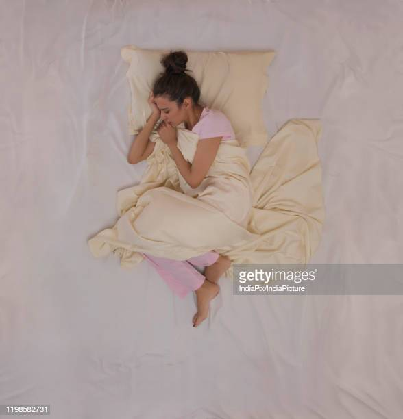 young girl having a nightmare - bottomless girl stock pictures, royalty-free photos & images
