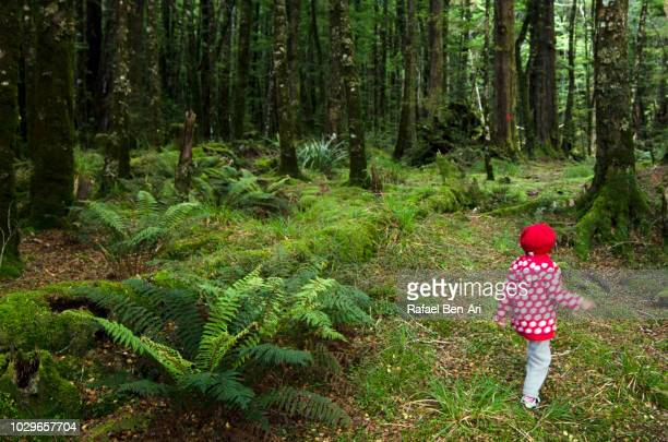 Young Girl Hiking in the Woods