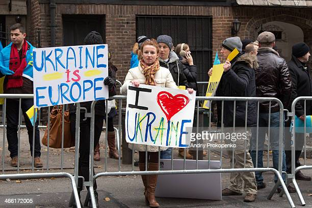 CONTENT] A young girl holding I love Ukraine poster during the demonstration in support of EuroMaidan movement in Ukraine on December 8 2013 in New...