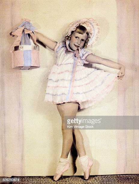 Young girl in dance outfit ca 1936